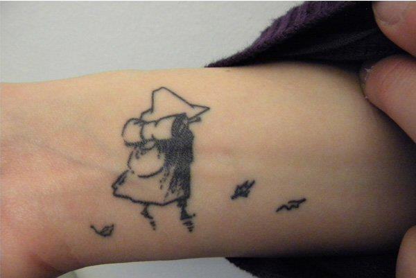 Moomin tattoo, Individual Ink, Turku, Finland