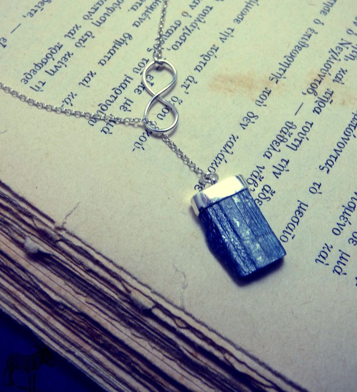 """ Blue Lariat Kyanite "" - Χειροποίητο μενταγιόν από ασήμι 925 και Κυανίτη σε στυλ lariat!"
