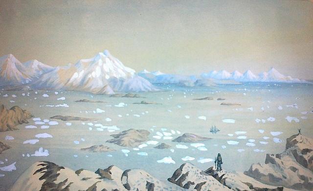 Landscape in Greenland, 1876 Grønlandsk landskab, 1876