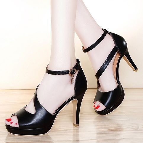 100d4f8b24a31 Fashion New Fish Mouth High-Heeled Sandals Female Fine With in 2019 ...