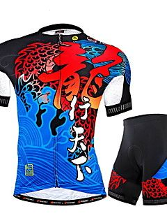 Nuckily Cycling Jersey with Shorts Men s Short Sleeve Bike Jersey Shorts  Clothing SuitsUltraviolet Resistant Breathable Reflective Strips  088d4d5d4
