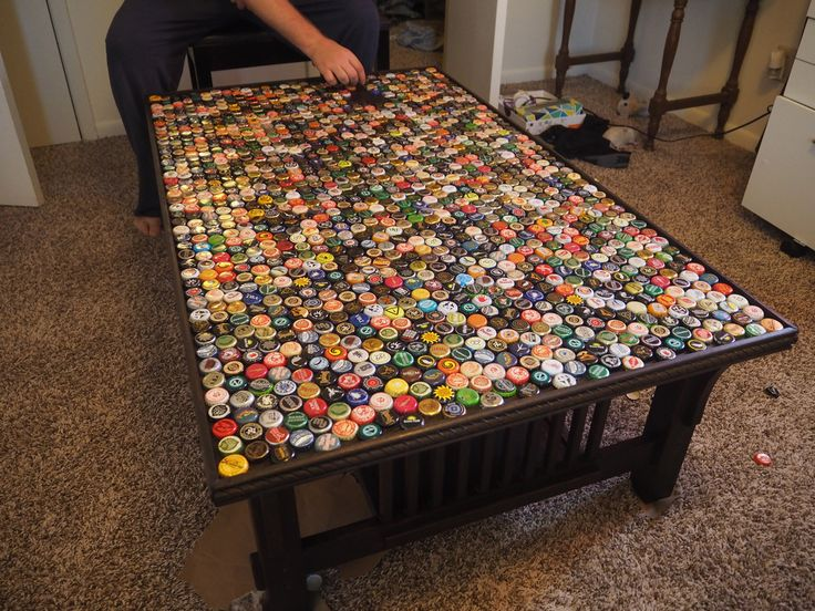 1,320 Bottle Cap Coffee Table