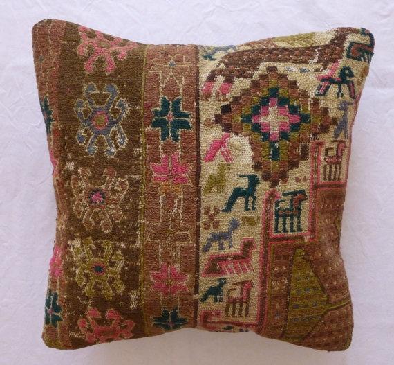 Decorative Throw Pillow Ethnic Animal design by PillowTalkOnEtsy, $54.00