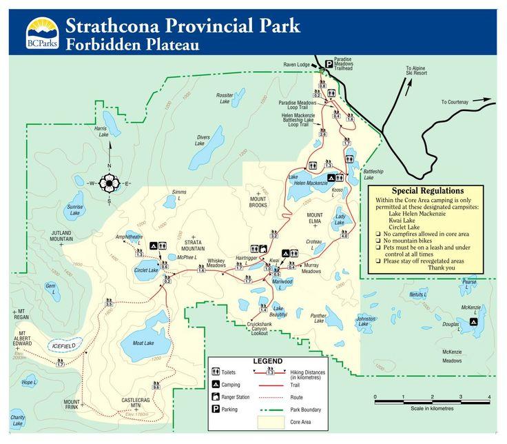 Mount Albert Edward Trail Map - possible 3-4day trip