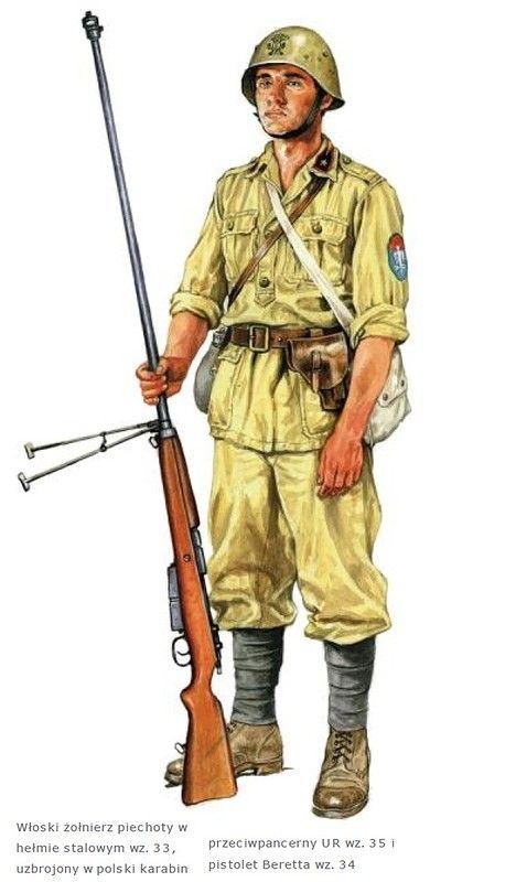 Regio Esercito - Soldato del C.S.I.R. in Russia con un fucile controcarro polacco UR 35