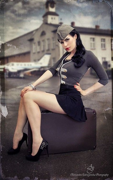 Diesel Punk pin up. Love her outfit