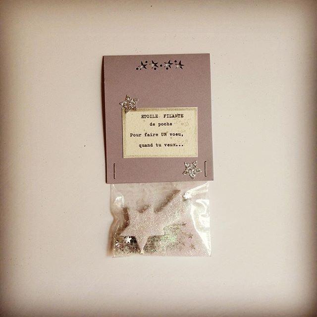 Sachet magique contenant une ETOILE FILANTE de Poche pour réaliser tes vœux…