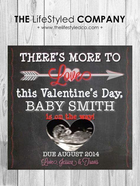 Ultrasound Valentine's Day Pregnancy Announcement by LCOonEtsy