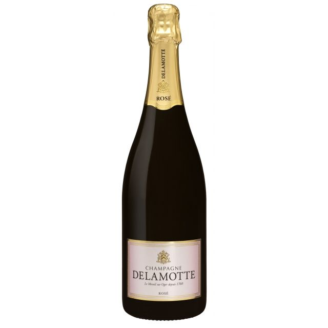 Champagne Delamotte Rose Brut NV | Le Mesnil Sur Oger, Champagne | Buy online by the bottle or mixed case from Hic! Wine Merchants