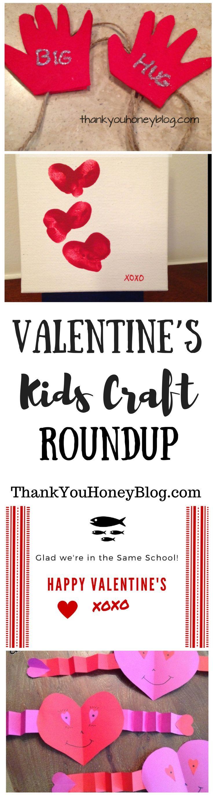 Valentine's Kids Craft Roundup,   Click through & PIN IT! Follow Us on Pinterest + Subscribe to ThankYouHoneyBlog{dot}com, arts & craft,  February 14, Valentine's Day, Kids Crafts, Valentine's Day Kids Craft Roundup, Valentines, Valentines Crafts, Non- Ca