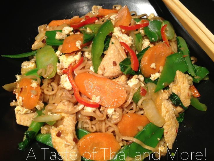 Stir Fried Spicy Mama Noodles - Mama Pad Kee Mao