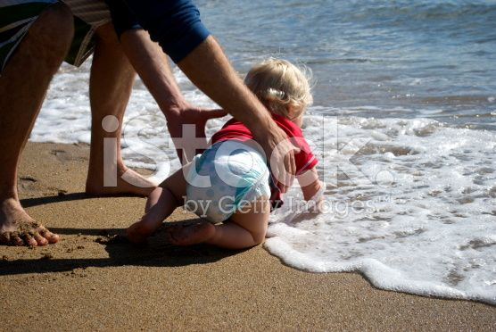 Baby and the Sea royalty-free stock photo