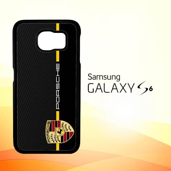Porsche Stripe Carbon W4947 Samsung Galaxy S6 Case