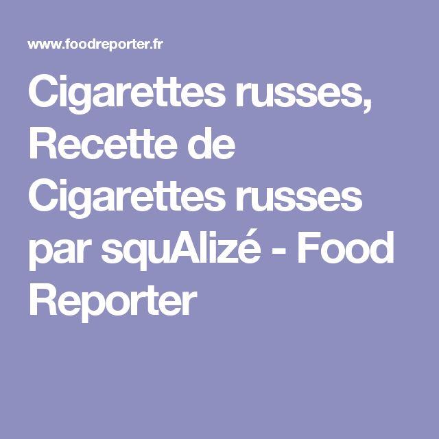 Cigarettes russes, Recette de Cigarettes russes par squAlizé - Food Reporter
