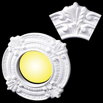 Recessed Lighting Trim Urethane 6 I - Ceiling Medallions White Urethane foam
