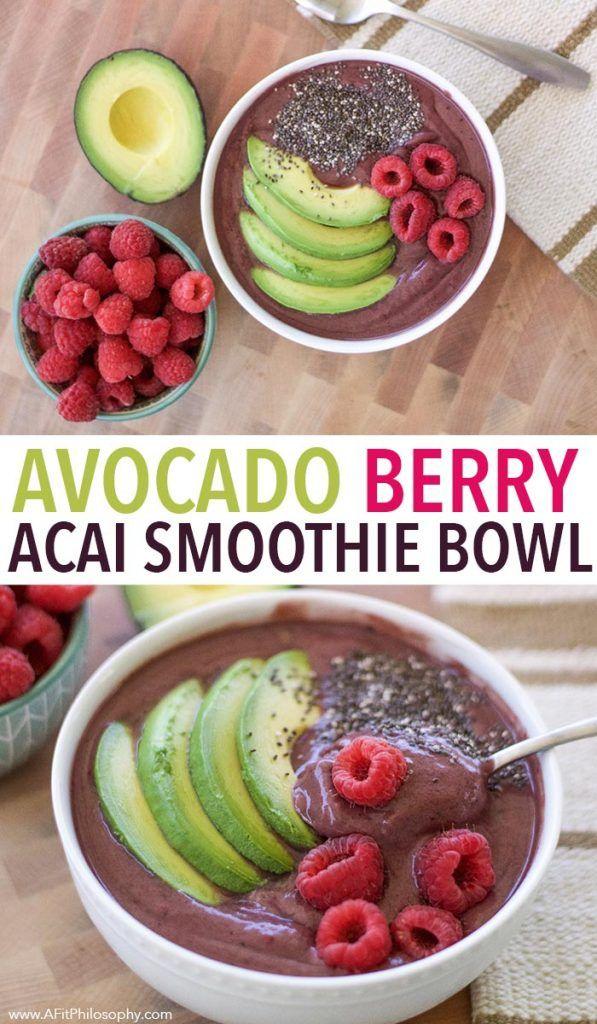 Avocado Berry Acai Smoothie Bowl, vegan smoothie bowl, gluten free smoothie bowl, breakfast smoothie bowl