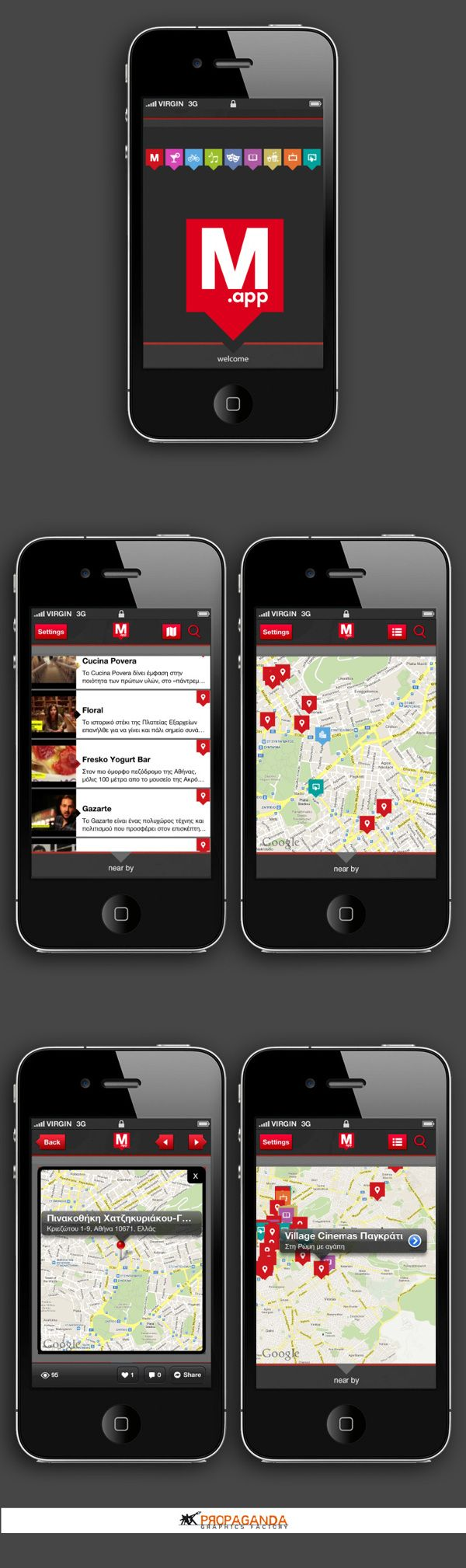 M.APP • UI by Propaganda Graphics Factory , via Behance #propaganda_apps #propaganda_apps #iphone #propagandagf #ui #ux #mobileapp #graphicdesign