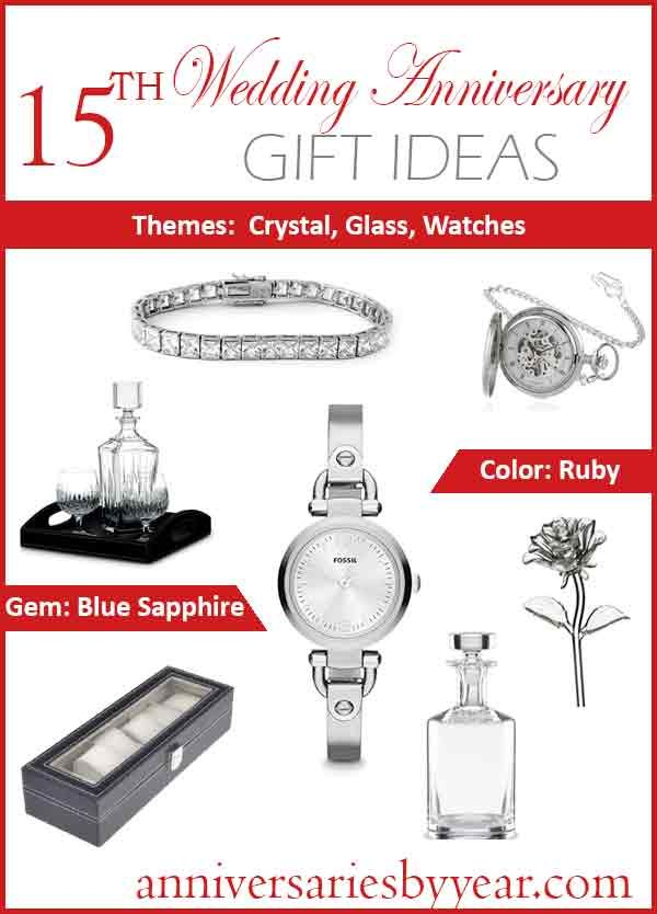 15th anniversary gift ideas
