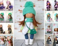 Fabric doll Handmade doll Tilda doll Interior von AnnKirillartPlace