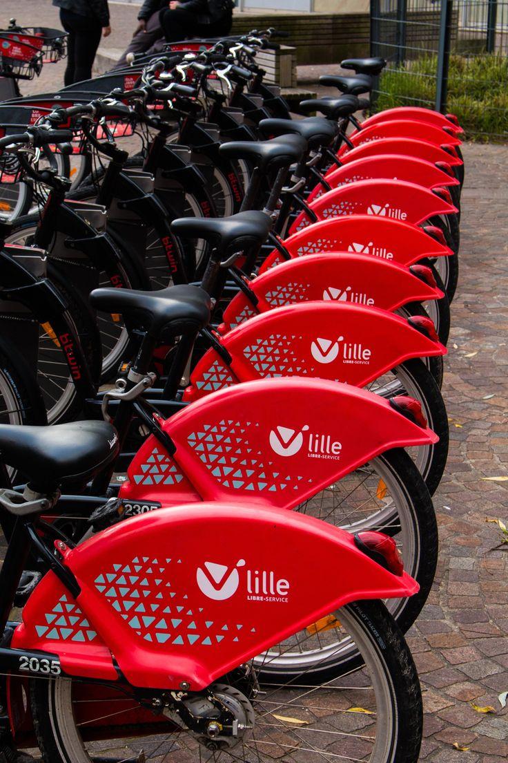 "Lille ""boris"" bikes!"