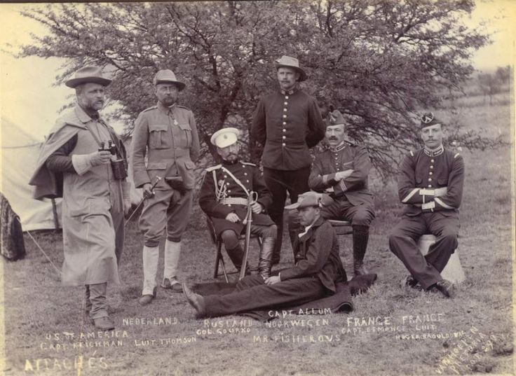 Boer side Military Attaches from Europe and the US