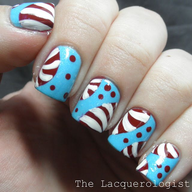 Peppermint Nail Art - The Lacquerologist | Nail designs