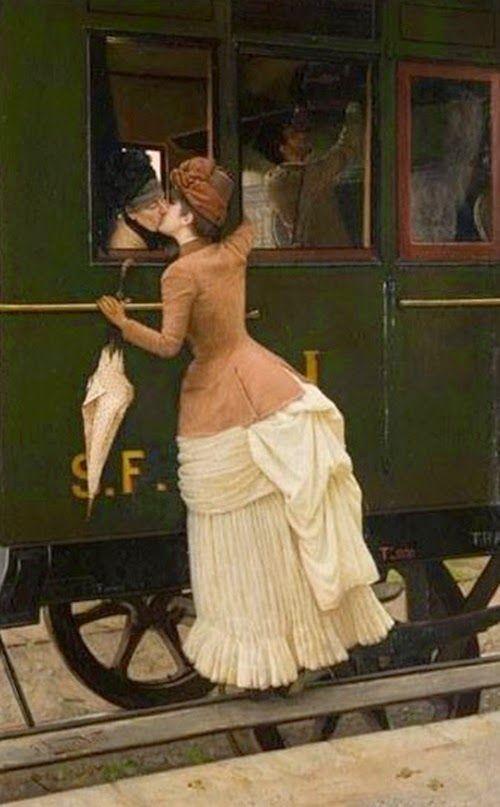 Italo Nunes Vais - Italian artist, 1860-1932 'One more kiss' 1885