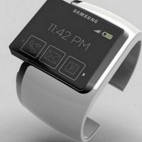 "Samsung Electronics Co. ""005930"" will present a wristwatch-like device named the Galaxy Gear next month that can make phone calls; you can use Web and handle e-mails, according to two people familiar with the matter."