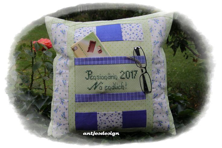 Kissen - Geschenk Rentner Pensionärin Kissen   Lavendel - ein Designerstück von antjesdesign bei DaWanda