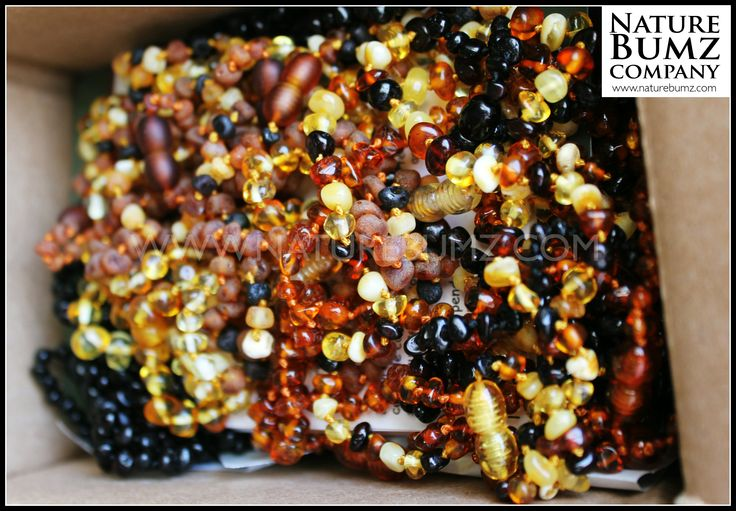 Healing Amber Shipment #teethingnecklacesrestocked Here: http://www.naturebumz.com/healing-amber-necklaces.html