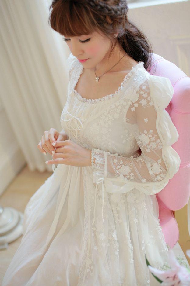 Trasporto libero di alta qualità reale delle donne camicia da notte della principessa degli indumenti da notte pigiama bianco pizzo pigiama femininos in 100% design originale Fornitore della cina per 10 anni Ottima fattura e migliore tessuto da Camicie da notte & Sleepshirts su AliExpress.com | Gruppo Alibaba