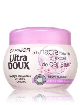 Ultra Doux masque brillance à la nacre naturelle et extrait de cerisier pour cheveux ternes et sans éclat - GARNIER