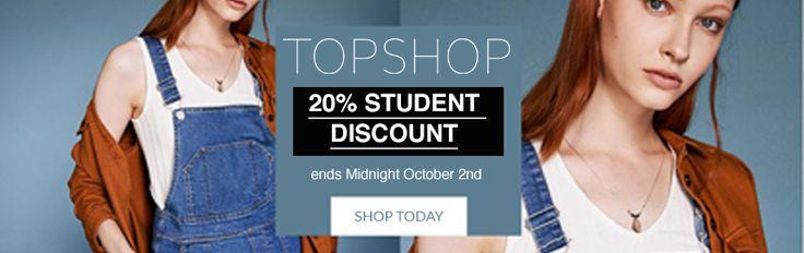 Topshop Student Discount