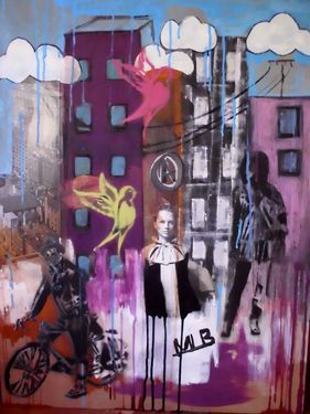 """Saatchi Art Artist Mary-Louise Bicket; Painting, """"Up in the Clouds"""" #art"""