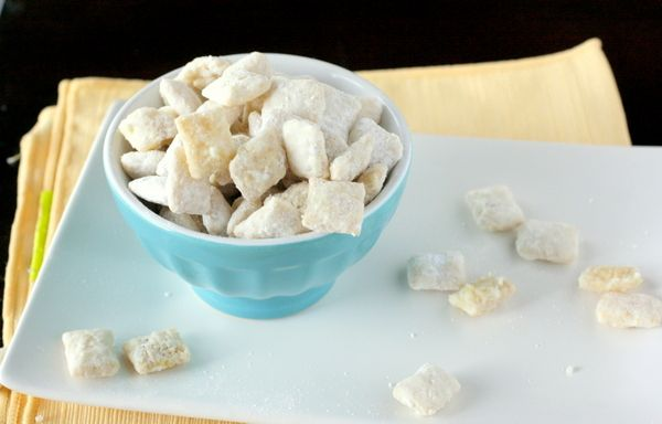 Lemon Puppy Chow - as if that addictive chocolate/peanut butter puppy chow met up with a box of lemon coolers and made beautiful music.