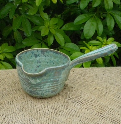 Pouring bowl sauce jug gravy boat hand thrown in stoneware p   Caractacus Pots MISI Handmade Shop