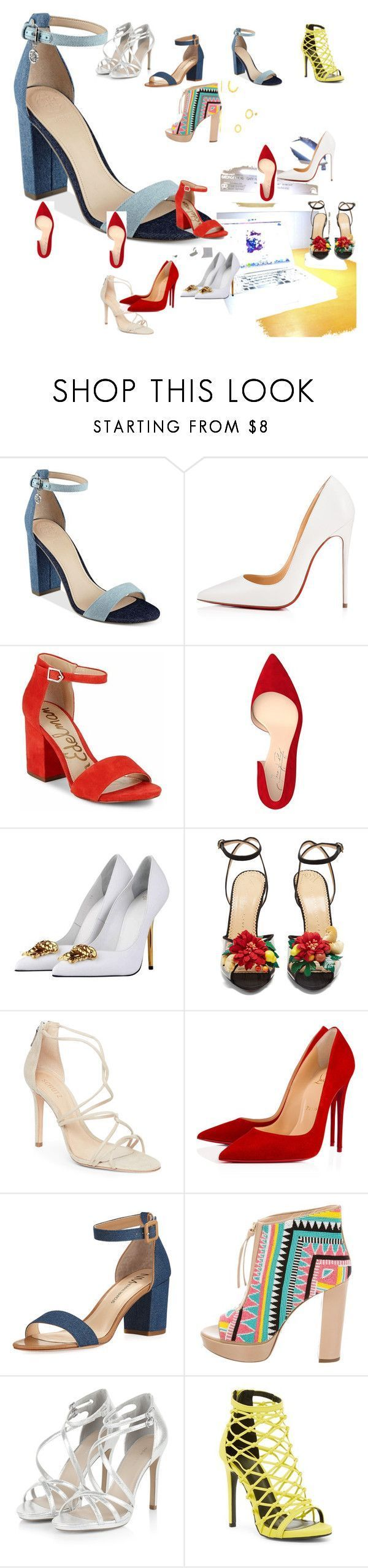 """""""BEST HEELS EVER BACK TO SCHOOL HAUL"""" by backtoschoolbacktoschoolback on Polyvore featuring GUESS, Christian Louboutin, Sam Edelman, Shoes of Prey, Versace, Charlotte Olympia, Schutz, Neiman Marcus, Jerome C. Rousseau and Wild Diva #charlotteolympiaheelsneimanmarcus #charlotteolympiaheelschristianlouboutin"""