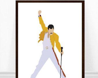 FREDDIE MERCURY Illustration Freddie Mercury Poster Freddie