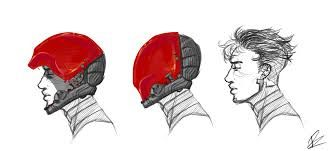 Image result for red hood helmet