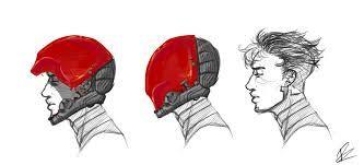 Image result for red hood helmet