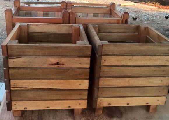 Cachepot madeira maciça R$115