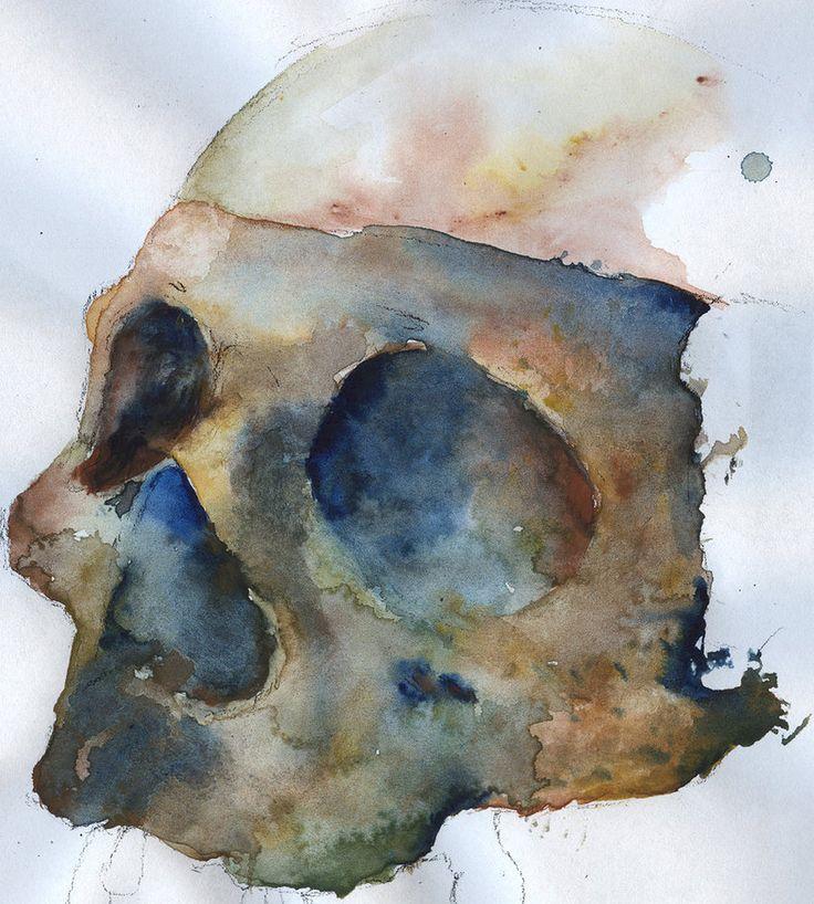 Skull Watercolour by ~KyleSF92 on deviantART