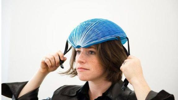 This cheap folding helmet is exactly what bike-sharing programs need Read more Technology News Here --> http://digitaltechnologynews.com  This folding helmet might be the ultimate accessory for bike-sharing programs. It's made of paper lightweight collapsible (and thus easy to carry) and cheap to produce.   Paper isn't exactly known for being protective but the EcoHelmet hopes to challenge that perception with this helmet's design. As recipients of the 2016 award the product has officially…