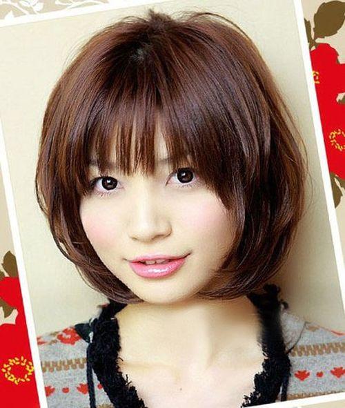 Cute Chin Length Bob Haircuts With Bangs Styles Time