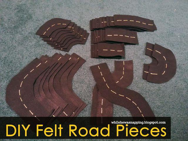 Kid's Felt Road & Track Set