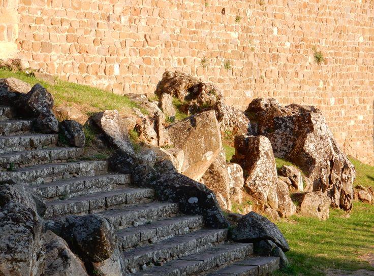 stairs to the Castello of Montalcino Siena, Tuscany