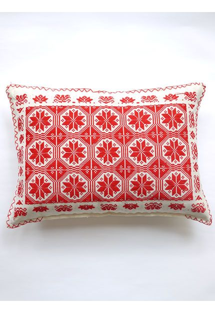 vintage folk cushions, hand stitched from budapest. adore.
