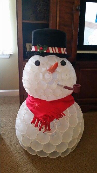 Best 25 plastic cup snowman ideas on pinterest for Cup snowman
