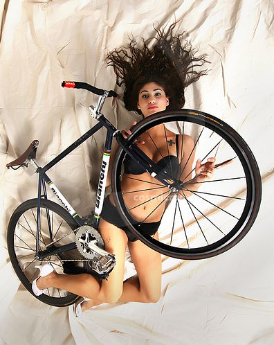 In bed with a bike