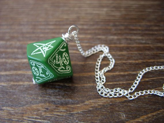 call of Cthulhu necklace D100 dice necklace dungeons by MageStudio